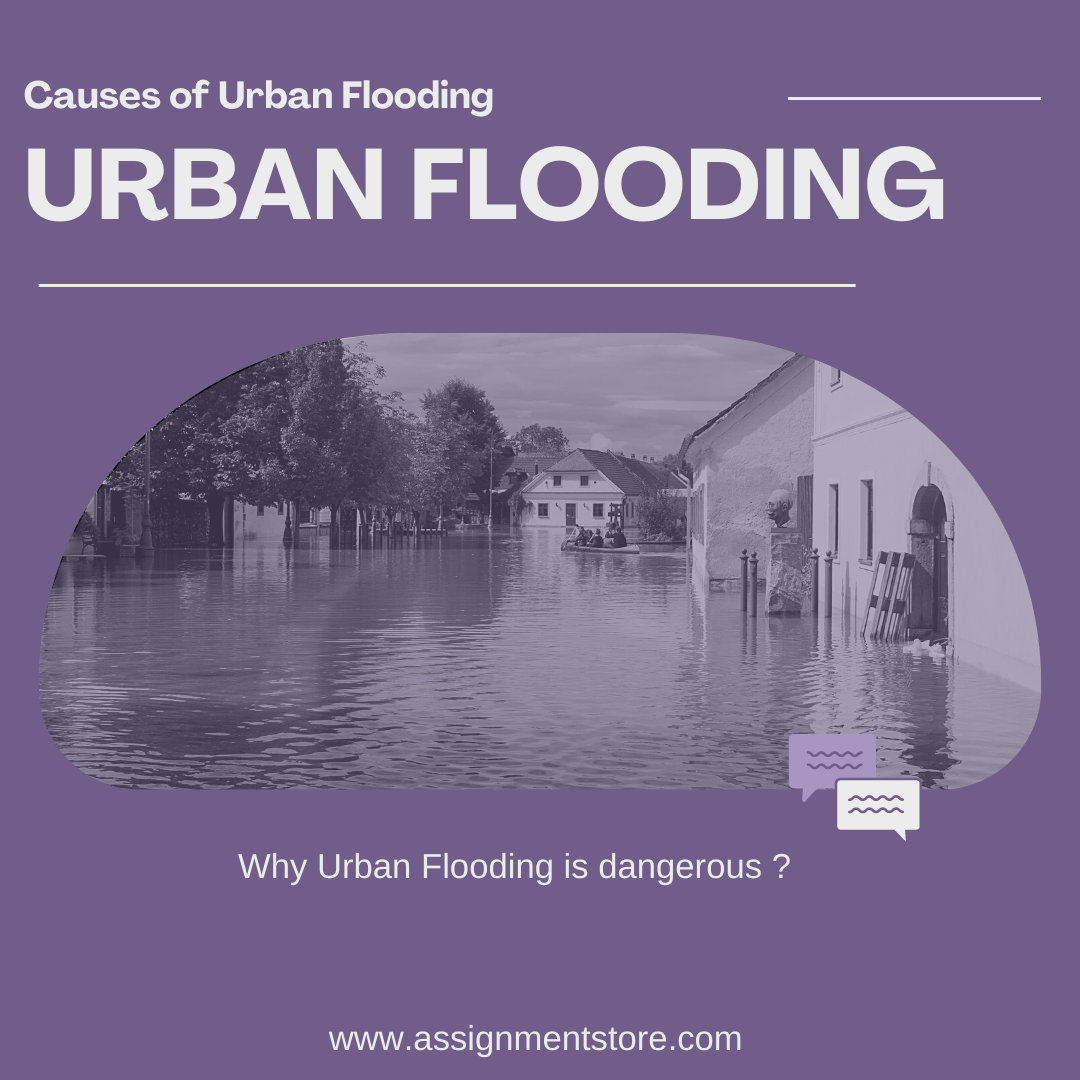 what are the causes of urban flooding